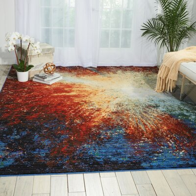 Ostby Red Flare Area Rug Rug Size: Rectangle 99 x 128