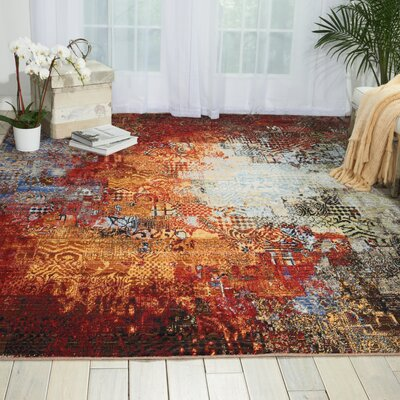 Aikin Ember Glow Area Rug Rug Size: Rectangle 99 x 128
