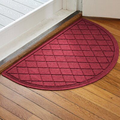 Ainaro Aqua Shield Argyle Doormat Color: Red/Black
