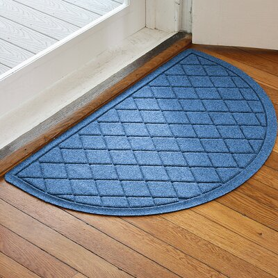 Ainaro Aqua Shield Argyle Doormat Color: Medium Blue
