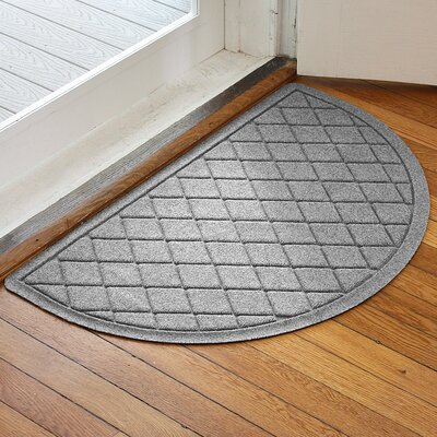 Ainaro Aqua Shield Argyle Doormat Color: Medium Gray