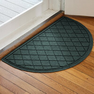 Ainaro Aqua Shield Argyle Doormat Color: Evergreen
