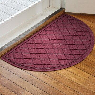 Ainaro Aqua Shield Argyle Doormat Color: Bordeaux