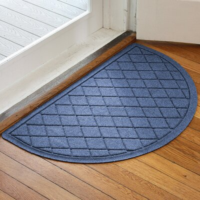 Ainaro Aqua Shield Argyle Doormat Color: Navy