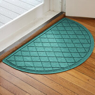 Ainaro Aqua Shield Argyle Doormat Color: Aquamarine