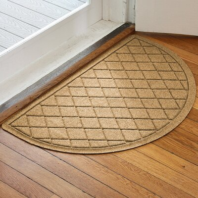 Ainaro Aqua Shield Argyle Doormat Color: Gold