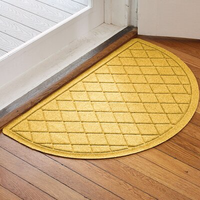 Ainaro Aqua Shield Argyle Doormat Color: Yellow