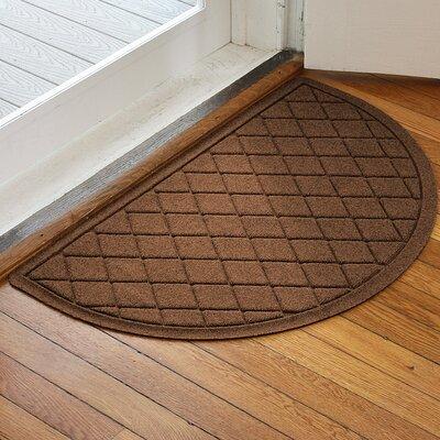 Ainaro Aqua Shield Argyle Doormat Color: Dark Brown