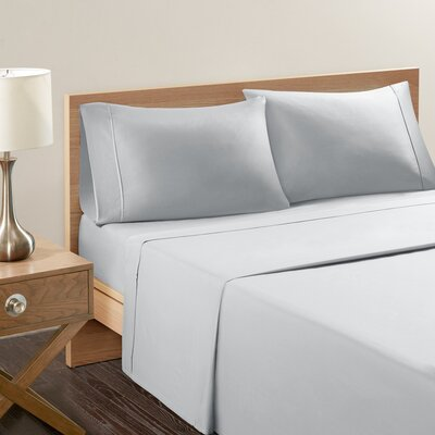 Akridge 300 Thread Count 100% Cotton Sheet Set Size: Queen, Color: Gray