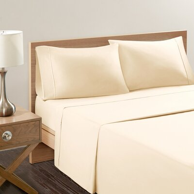 Akridge 300 Thread Count Cotton Pillowcase Size: King, Color: Ivory