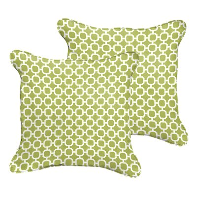 Samantha Geometric Indoor/Outdoor Pillow Size: 18 H x 18 W x 6 D