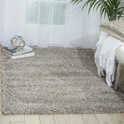 Shelley Light Gray Area Rug Rug Size: 53 x 75