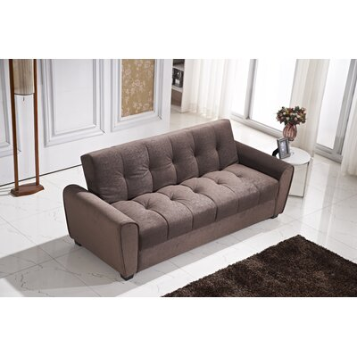 Roosevelt Click Clack Convertible Sofa Color: Brown