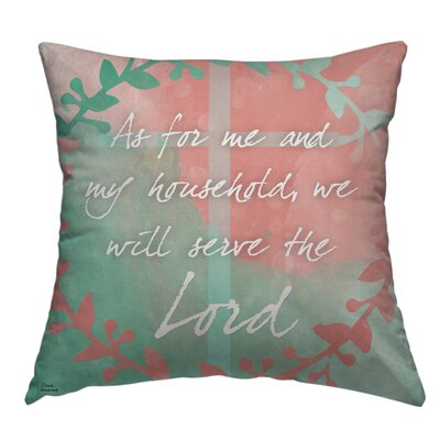 Usry The Lord Throw Pillow Size: 18 H x 18 W x 4 D