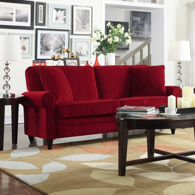 Cordele Sofa Upholstery: Red