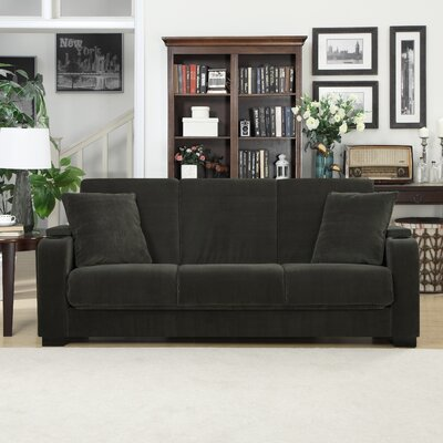 Normand Covert-a-Couch Sleeper Sofa Upholstery: Dark Grey
