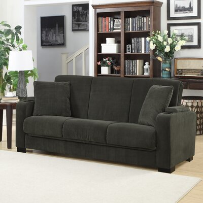 Ciera Convertible Sleeper Sofa Upholstery: Dark Grey