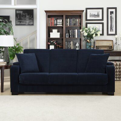 Normand Covert-a-Couch Sleeper Sofa Upholstery: Blue