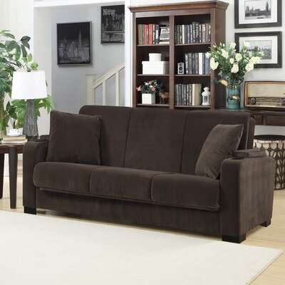Ciera Convertible Sleeper Sofa Upholstery: Brown