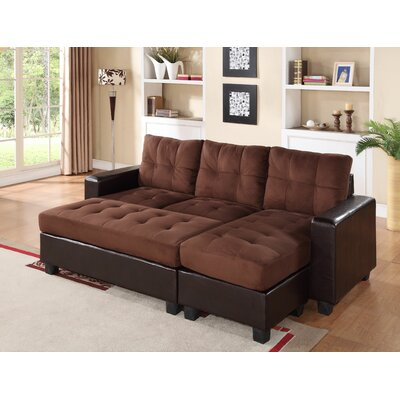 Norris Diamond Sectional Upholstery: Chocolate