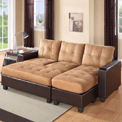 Norris Diamond Sectional Upholstery: Saddle