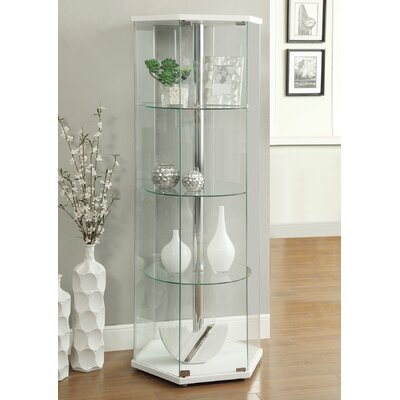 Randall Curio Cabinet Color: White