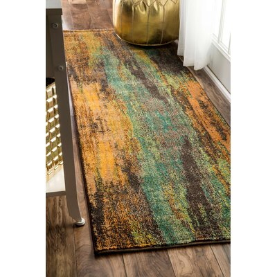 Roxanne Brown/Gray Area Rug Rug Size: Runner 26 x 8