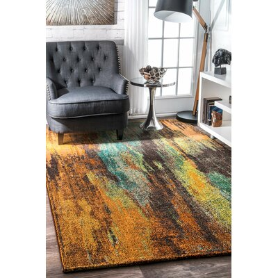 Roxanne Brown/Gray Area Rug Rug Size: 53 x 77