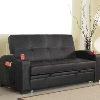 Leyna Sleeper Sofa Upholstery: Black
