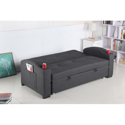 Leyna Sleeper Sofa Upholstery: Gray