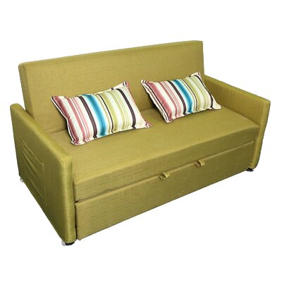 Corvallis Pull Out Sleeper Sofa Upholstery: Apple Green
