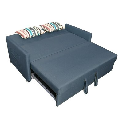 Corvallis Pull Out Sleeper Sofa Upholstery: Blue