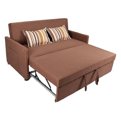 Corvallis Pull Out Sleeper Sofa Upholstery: Cafe
