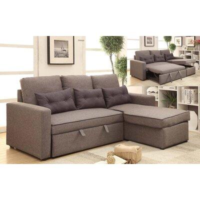Cosmopolitan Sleeper Sectional Upholstery: Grey