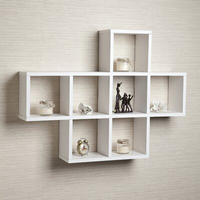 Cubby Wall Shelf Color: White