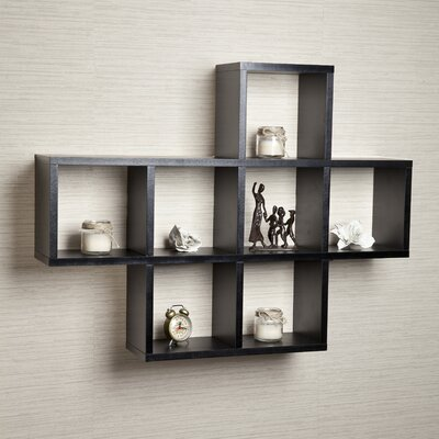 Cubby Wall Shelf Color: Black