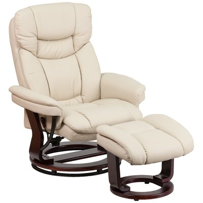 Eisenbarth Manual Recliner with Ottoman Upholstery: Beige