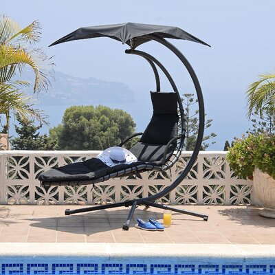 Renava Helicopter  Swing Chair Finish: Black