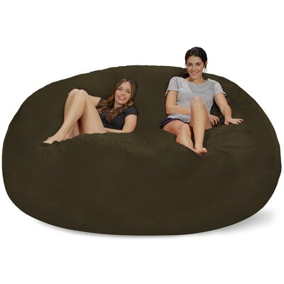 Extra Large Microsuede Bean Bag Sofa Upholstery: Olive