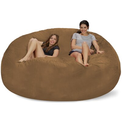 Extra Large Microsuede Bean Bag Sofa Upholstery: Earth