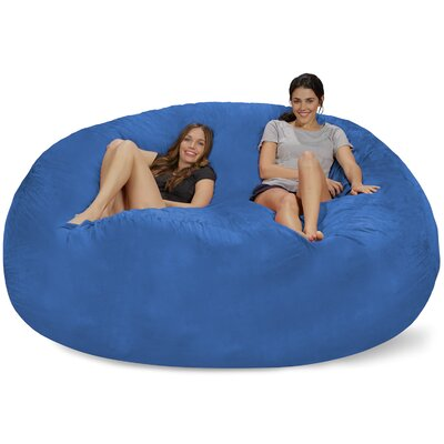 Extra Large Microsuede Bean Bag Sofa Upholstery: Royal Blue
