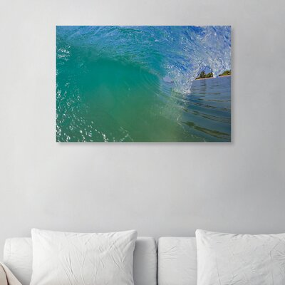 'Breaking Wave' Photographic Print on Canvas Size: 10'' H x 15'' W x 1.5'' D