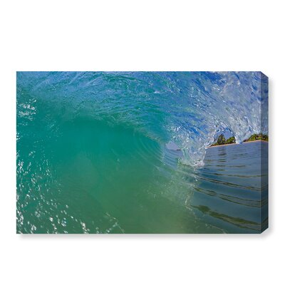 'Breaking Wave' Photographic Print on Canvas Size: 16'' H x 24'' W x 1.5'' D