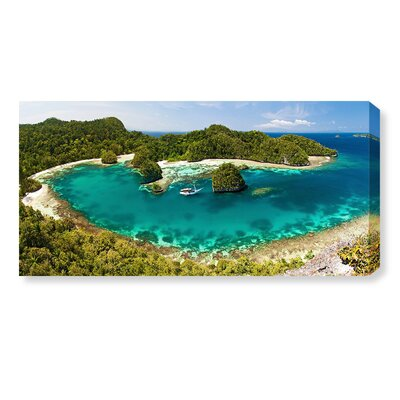 'Boat in a Bay Indonesia' Photographic Print on Canvas