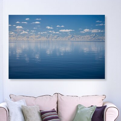 'A Flat Ocean' Photographic Print on Canvas Size: 10'' H x 15'' W x 1.5'' D