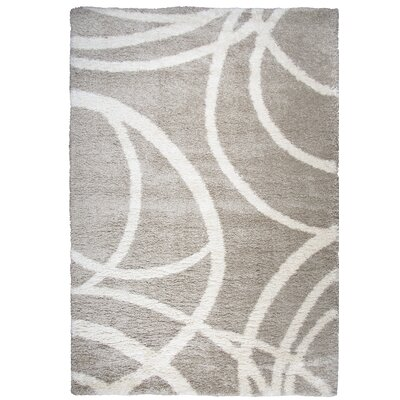 Thalia Cream Shag Area Rug Rug Size: Rectangle 53 x 73