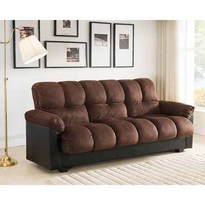 Capri Storage Convertible Sofa Upholstery: Brown
