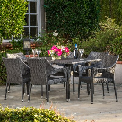 Epicenters Outdoor 7 Piece Dining Set