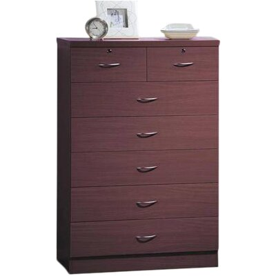 Chesapeake 7 Drawer Chest Finish: Mahogany