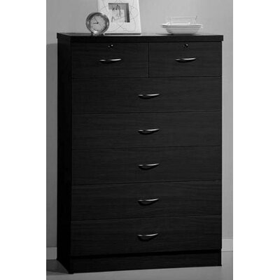 Chesapeake 7 Drawer Chest Finish: Black
